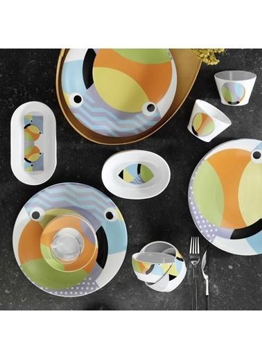 Kütahya Porselen Kütahya Porselen 36 Parça 10955 Desenli Kahvaltı Takımı Renkli
